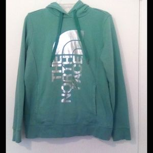 The North Face turquoise Hoodie Women's M